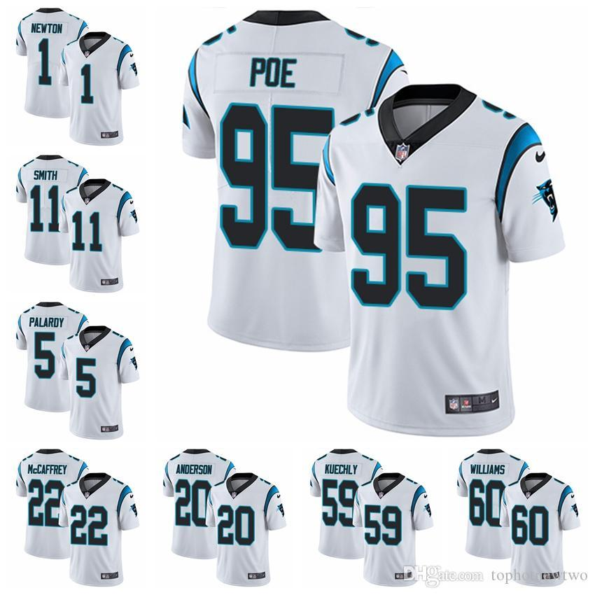 72c3b90cc 2019 Carolina Limited Road Football Jersey Panthers White Vapor Untouchable  22 Christian McCaffrey 1 Cam Newton 59 Luke Kuechly 2 From Jerseyptb10