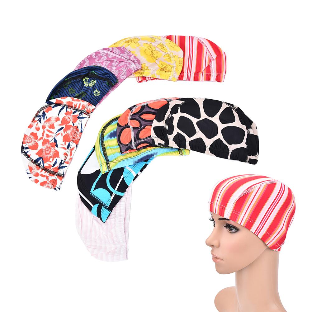 3e5b47cb5a5 2019 Adult Men Women Swim Caps Hat Elastic Protect Ears Long Hair Sports  Swim Pool Hat Spandex Children Swimming Cap From Qingfengxu