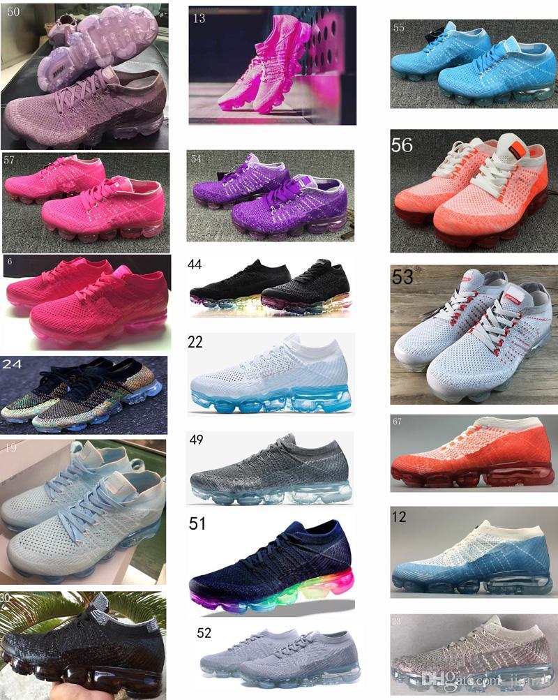 2018 Woman's Vapormax walking Shoes Black purple Vapor 2018 Trainer Kpu Sneakers Size 36-40 18012-w free shipping cost vgjkM3ky