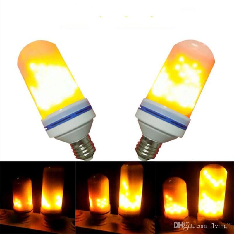 E27 E26 Led Flickering Flame Light Bulbs 2835 Beads Simulated Decorative Atmosphere Lighting Decoration Lamp 7w Bulb Candelabra