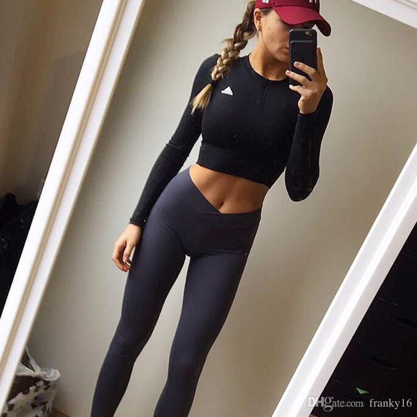 حجم XS-XL 2018 لربيع وصيف جديد الموضة في اليوغا السراويل الصلبة النساء بسط طماق الرياضية للنساء