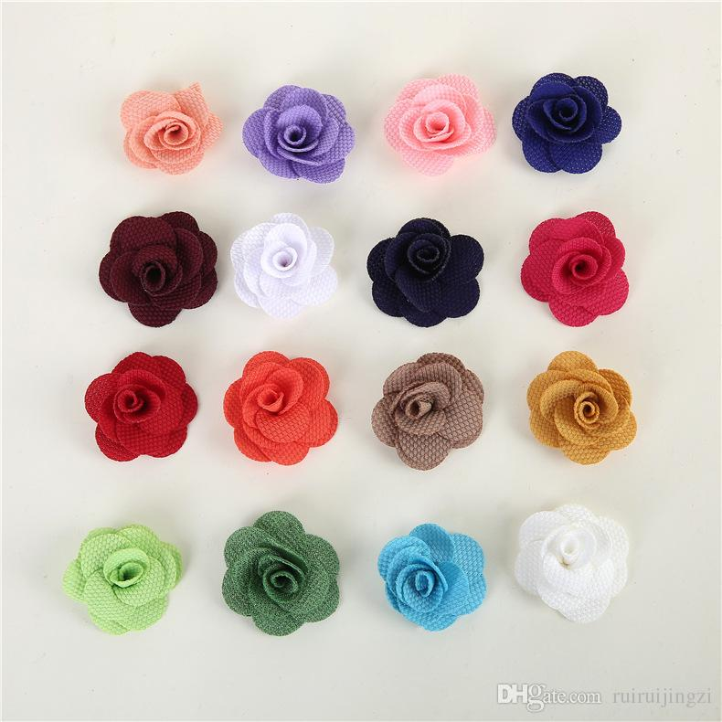 Cute Dog Hairpin Handmade Puppy Bowknot Fabric flower corn grain stereo rose flower Hair Clips Teddy Pet Hair Grooming Accessories