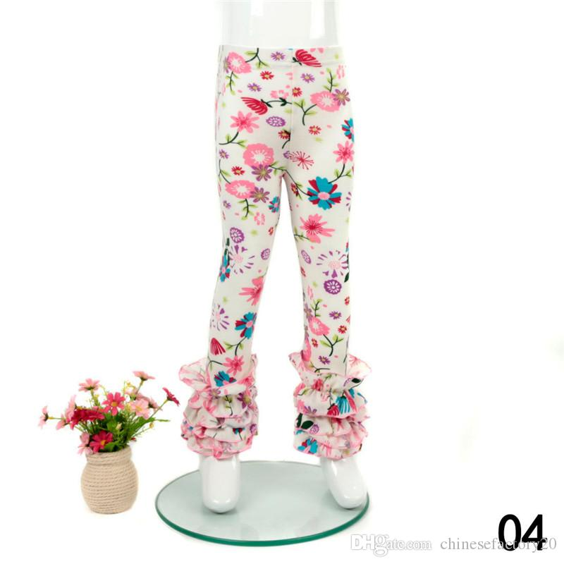 Baby Girls Flower Printed Leggings Kids print Florals Lace Pants Toddler Tights 0-9T 21Styles Summer Clothing