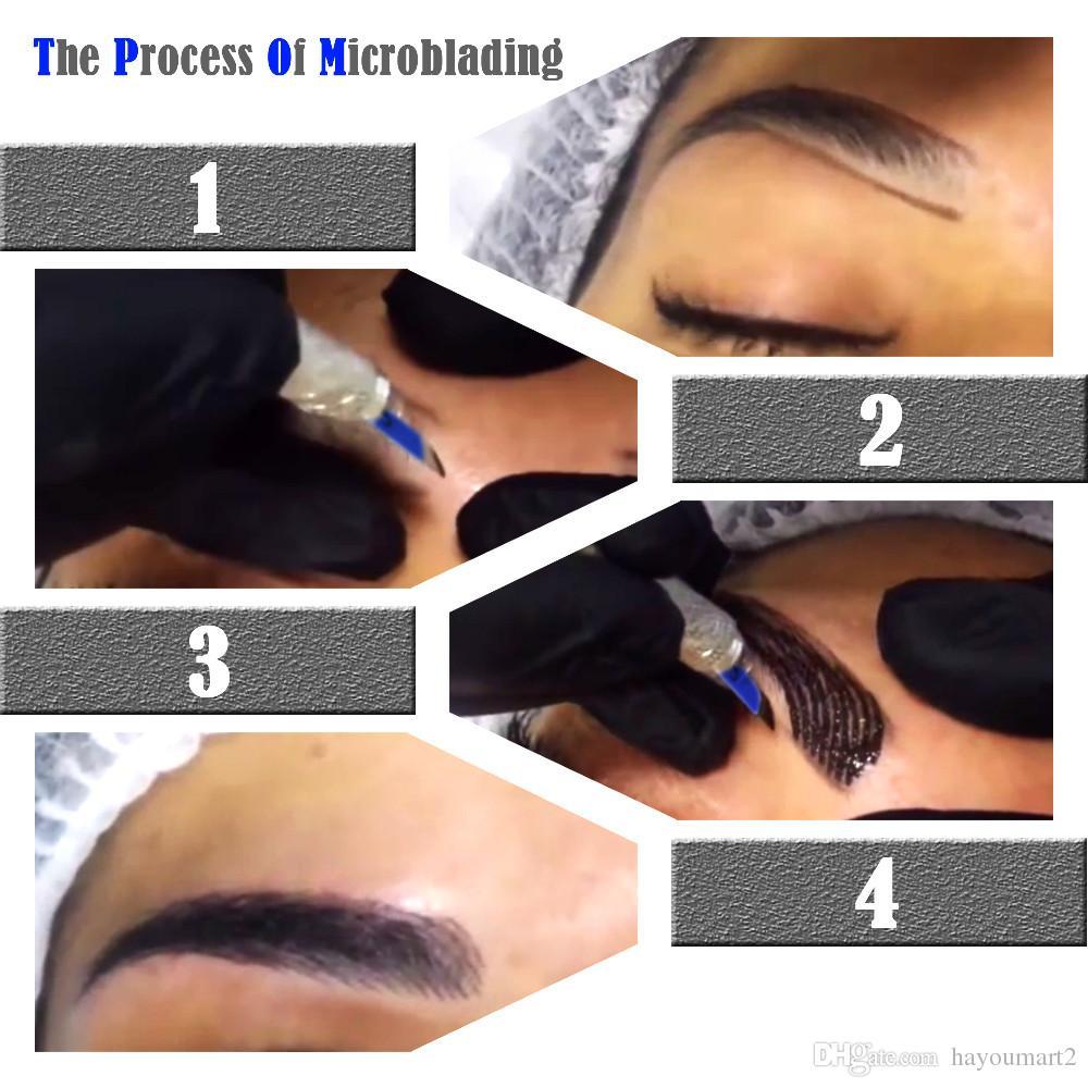 Microblading مجموعة دليل القلم إبر الحاجب لصق برو ماكياج الحاجب الوشم على الحاجب الدائم الوشم أطقم