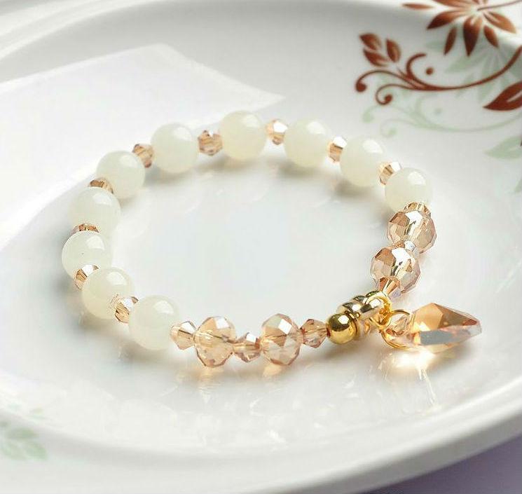 Braccialetti con ciondoli Bracciali con perle in metallo donna Pulseras Mujer Masculina Braccialetti con perle in metallo con polsiera Pulseira Femme