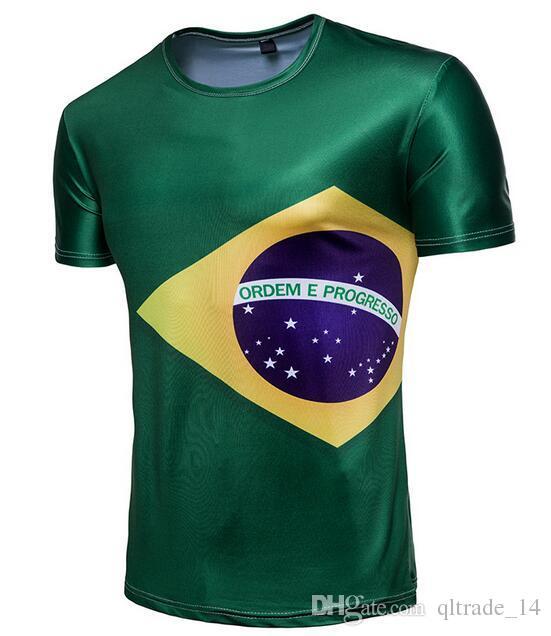 Samba Corpo Brasile magliette squadra equipaggio collo Svizzera gli appassionati di calcio magliette 2018 fan della Coppa del Mondo in Russia a maniche corte T-shirt