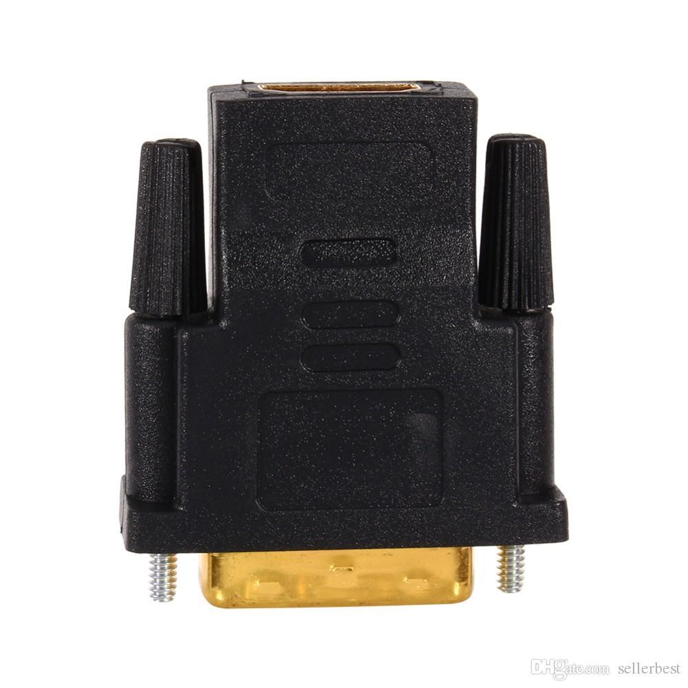 Câbles audio VBESTLIFE plaqués or DVI 24 + 1 vers HDMI Convertisseur adaptateur femelle / mâle Adaptateur pour HDTV PC Projecteur PS3 TV Box