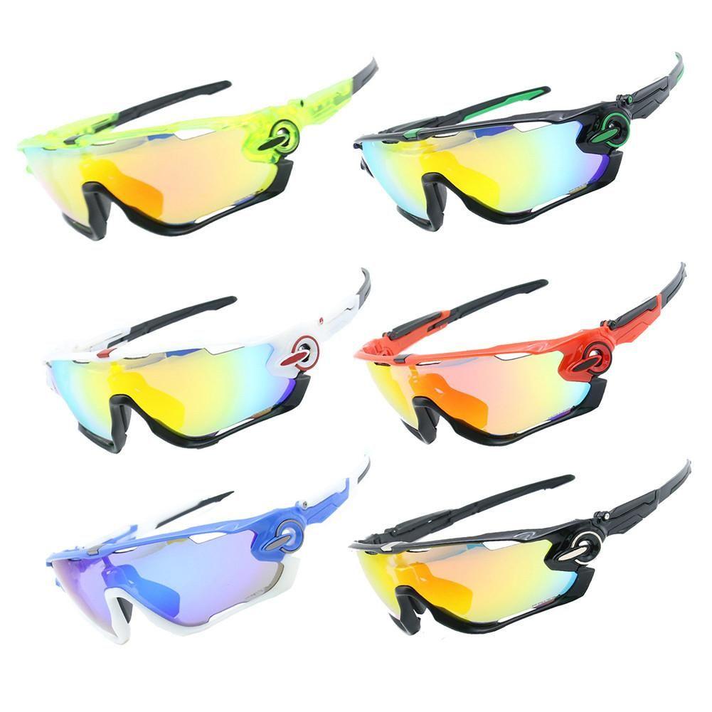 002f16f2001 Polarized Cycling SunGlasses Mountain Bike Goggles 4 Lenses UV400 ...