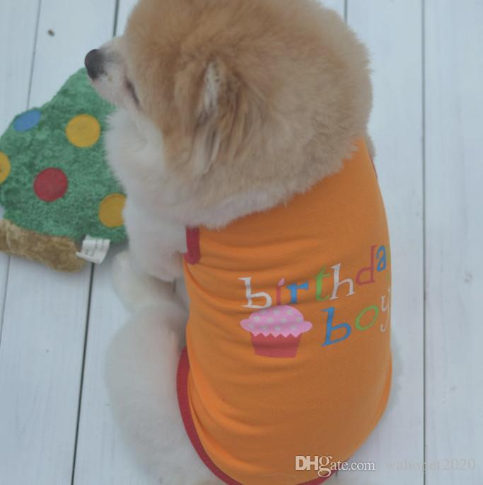 pet dog T shirt happy birthday clothing for pet puppy cat summer clothing