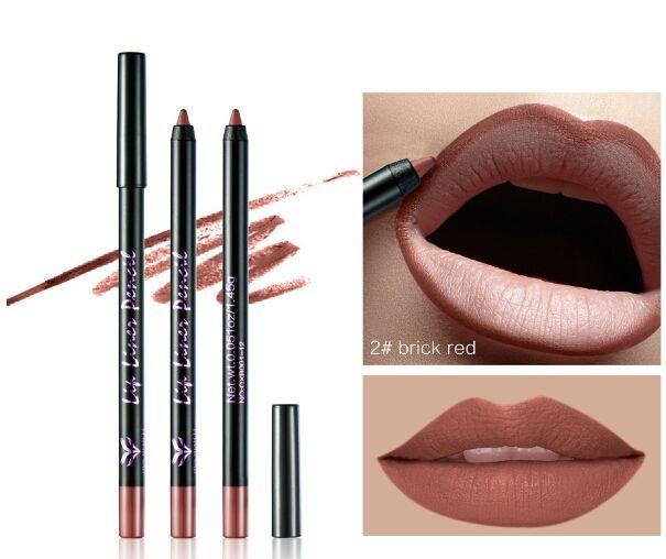 NUEVA LLEGADA Lápiz delineador de labios Lápiz labial de larga duración Lápiz labial Impermeable Fácil de usar Colorido Labios delineador de labios Maquillaje 12
