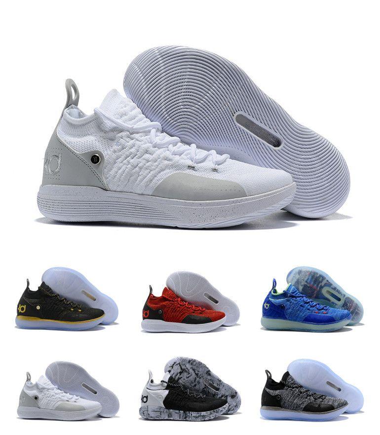 half off 11a28 d2e75 Acheter Nouvelles Chaussures De Créateur 2018 Zoom Nike KD 11 Chaussures De  Basket Ball Pour Hommes KDs XI Kevin Durant Sports De Plein Air Bottes De  Combat ...