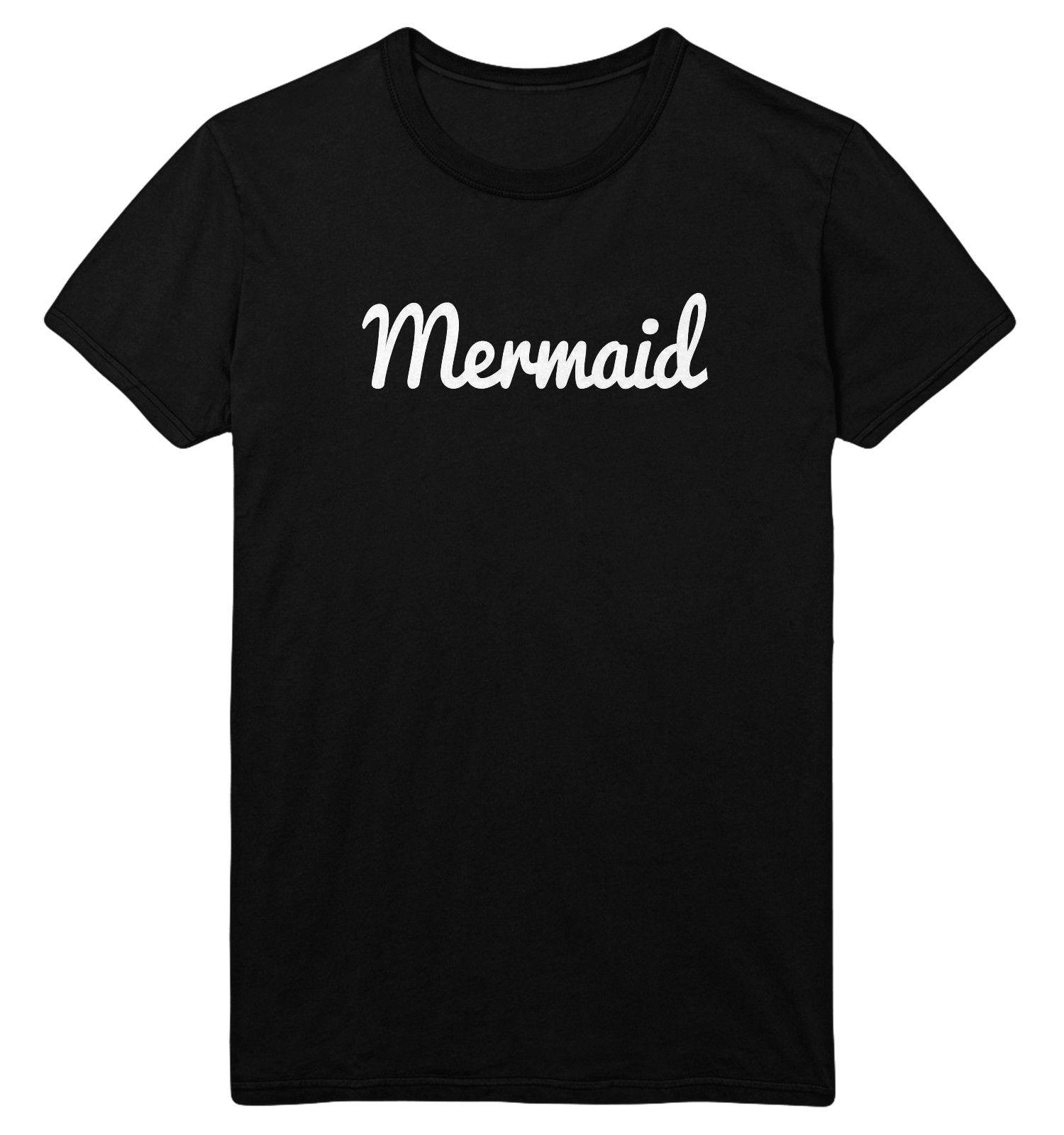 3b6a95ee Mermaid Medium Unisex Black T Shirt Slogan Sassy SALE CLEARANCE A2 Funny  Unisex Tee Shirt Online Cartoon T Shirts From Stshirt, $12.96| DHgate.Com