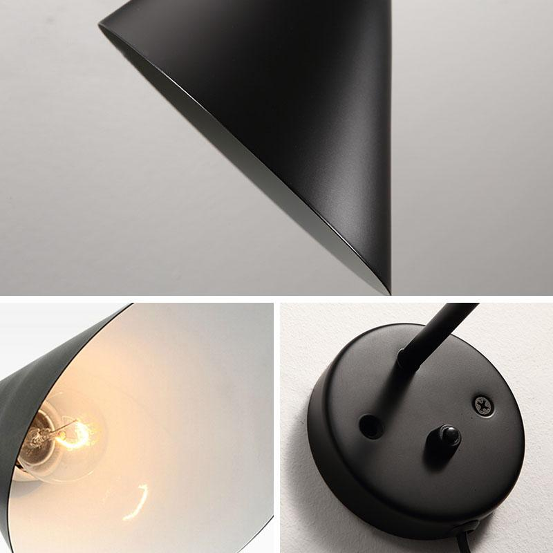 Creativo moderne lampade Designwall da Arne Jacobsen sconce Vintage Loft lampada Louis Poulsen Lampada AJ muro bianco / nero Lampade illuminazione