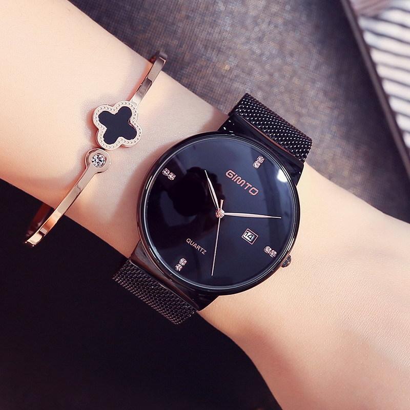 eac1e5483ca Compre Gimto 2018 Pulsera De Moda Relojes De Las Mujeres Marca De Lujo De  Acero Vestido De Oro Cristalino De Las Señoras Reloj Casual Deporte Reloj  Relogio ...