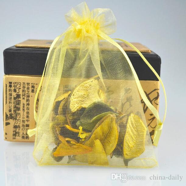 Free Shioup 200ピースゴールド7 * 9cm 9 * 12cm 10 * 14cmオーガンザジュエリーバッグウェディングパーティーキャンディギフトバッグ