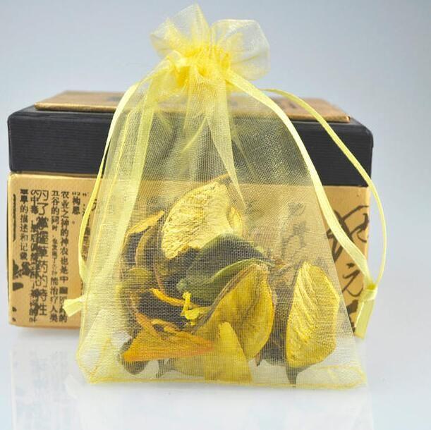 Navio livre Ouro 7 * 9 cm 9 * 12 cm 10 * 14 cm Organza Saco de Jóias de Festa de Casamento Doces Sacos de Presente