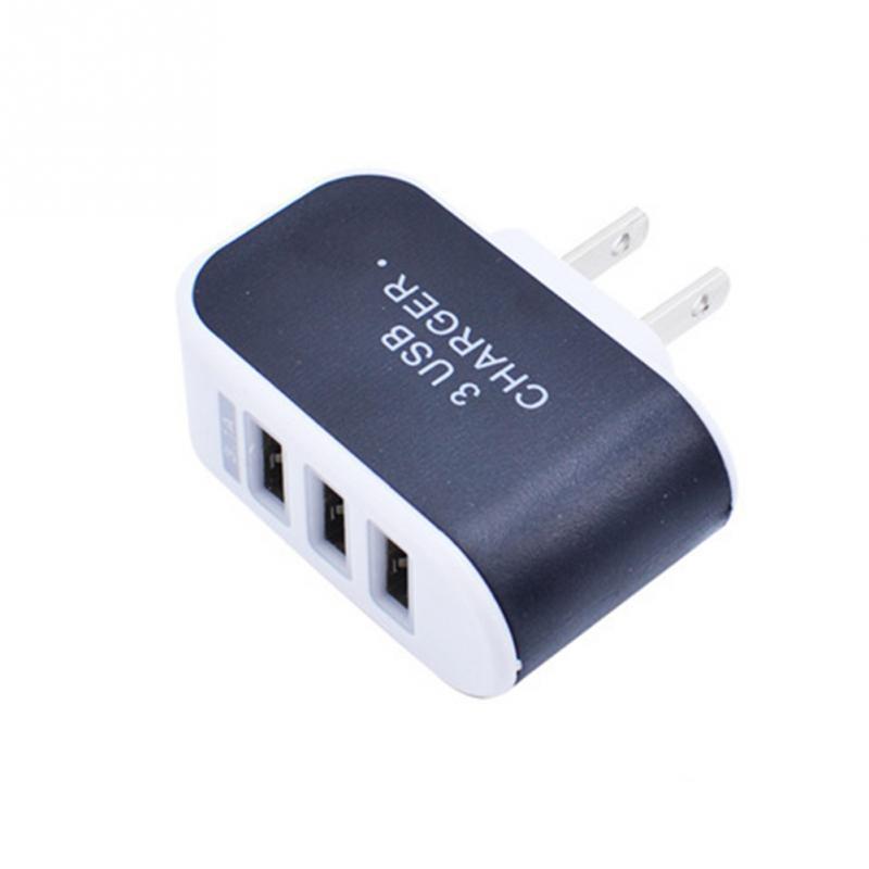 Caricabatteria da viaggio USB 3 caricabatteria da viaggio USB plug Adapter con tripla porta USB iphone 7 samsung S8 Mobile Phone