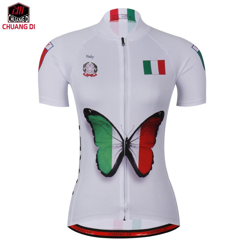 4fff5b524 Italy Women S Club Cycling Jerseys Riding Bike Clothing MTB Road Bicycle  Wear Short Sleeve Ropa Short Sleeve Shirt Online Shirts V Neck T Shirt From  Factory ...