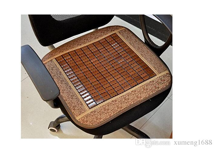 45x45cm Summer Home Cooling Chair Pad Cool Bamboo Cushion Car Summer Comfort Seat Pad Breathable Office Chair Cover Mat