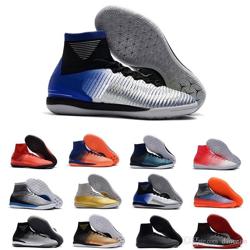 hot sale online 5bf2d 32c47 aaa quality Mercurial X Proximo II DF IC soccer shoes for men Mercurial  superfly football boots C Ronaldo high ankle indoor soccer cleats