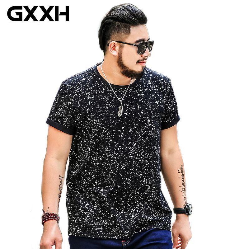 Oversized 6xl Hombres Algodón 5xl Size Camisetas Plus Gxxh Sleeve Hombre Camiseta Homme 7xl Short Summer Male PiuOkZXT