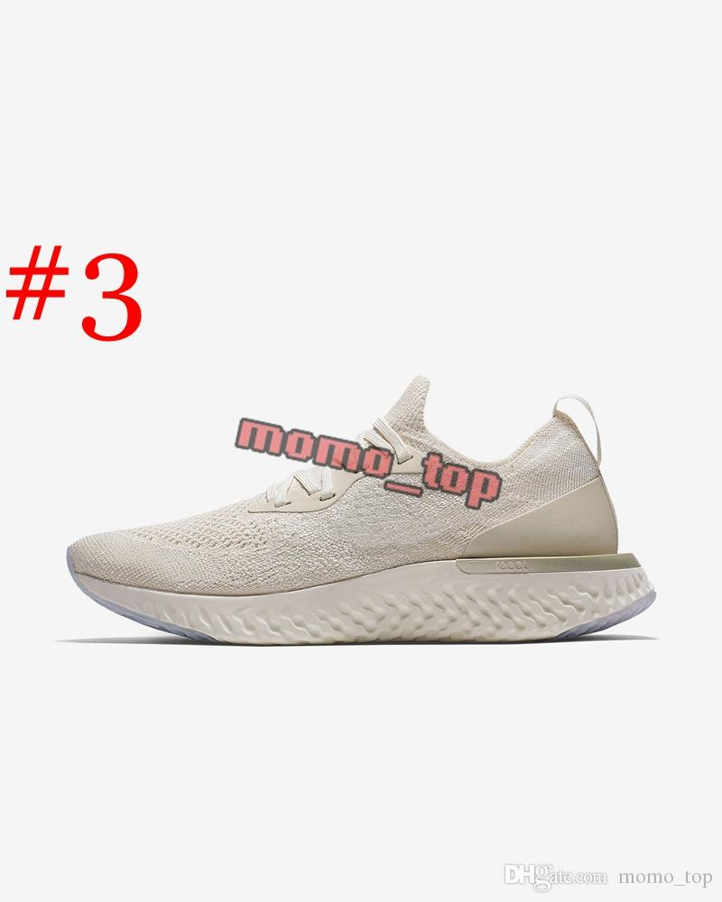2018 Top Sale Epic React Foam Running Shoes Fly Knitting Upper Vamp Sport Mens Women Running Shoes Design Cushioning Athletic Sneakers