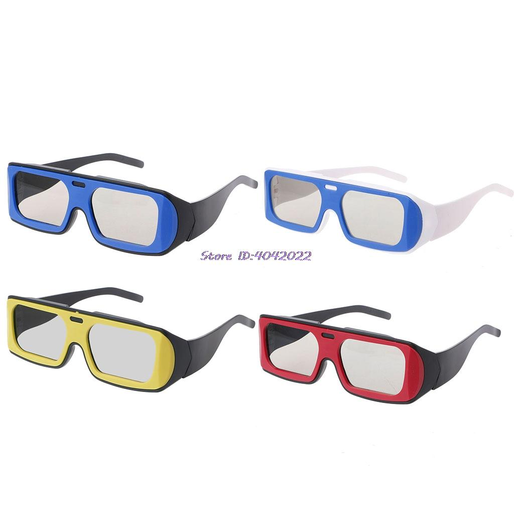 Dual Color Frame Circular Polarized Passive 3D Stereo Glasses For ...