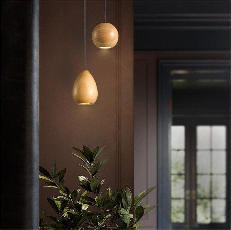 Grosshandel Lampe Pendelleuchten Creative Wood Beleuchtung Lamparas