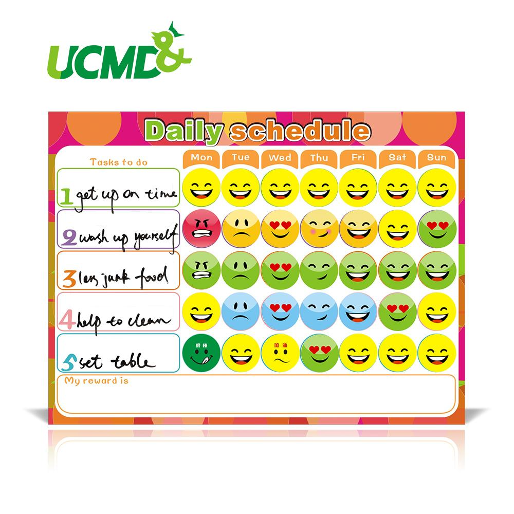 Dry Erase Magnet Weekly Planner Creative To-Do List Kids Schedule Magnetic  Reward Chart 40 X 30 Cm