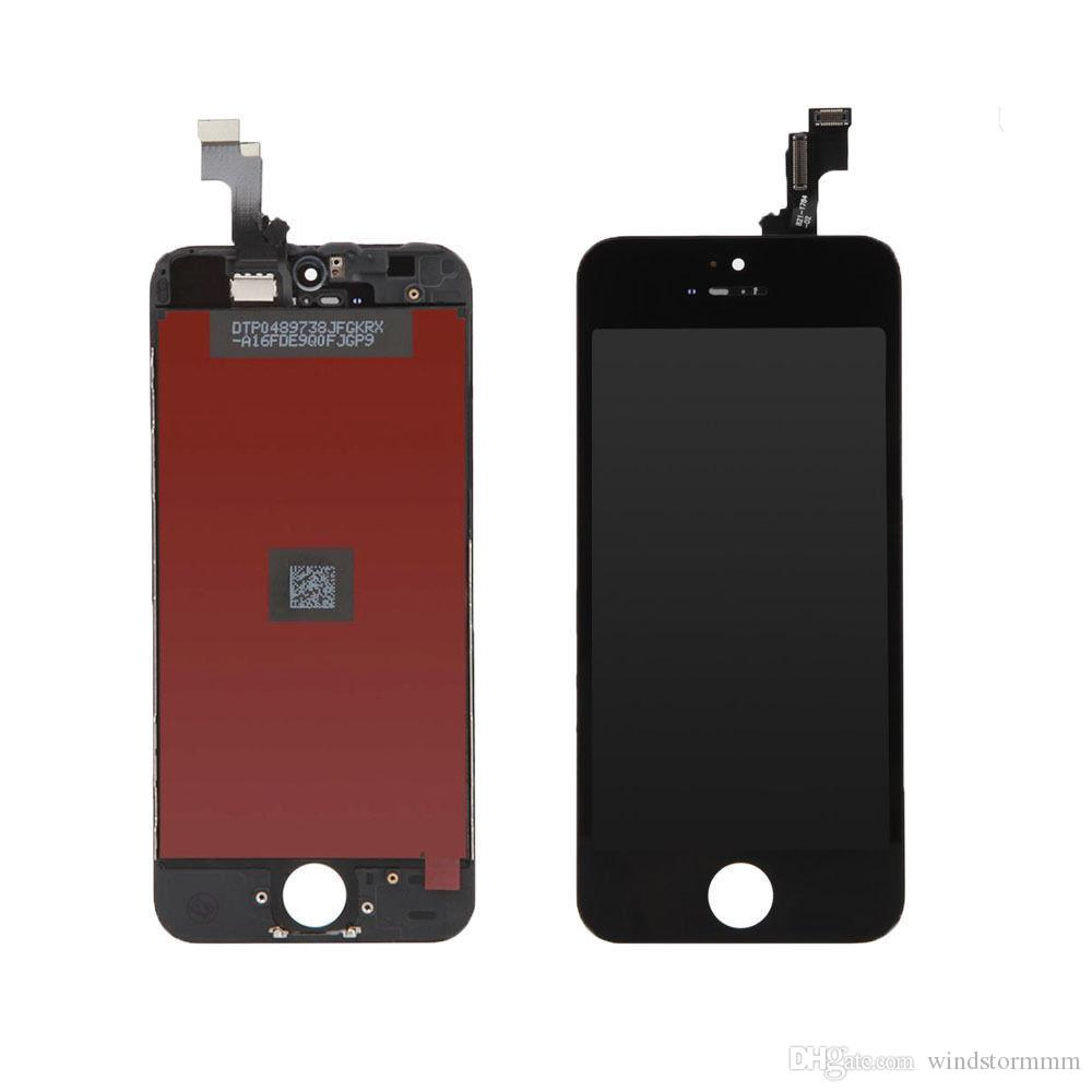 For iPhone 5c Black and white LCD Touch Original Display Assembly Digitizer Screen deliver the goods within 24 hours