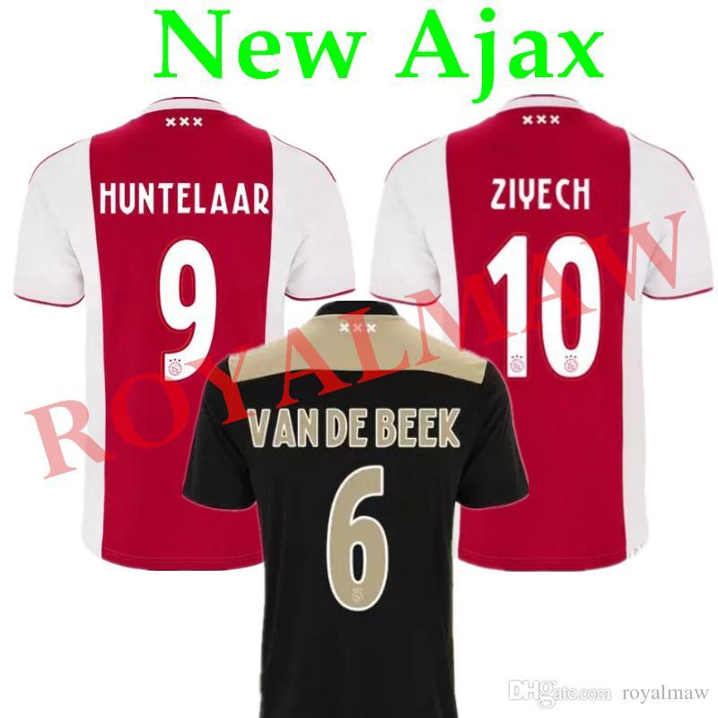 afd8e7946 2018 New Ajax Soccer Jersey 18 19 Home Red Away Black Football Shirt Afc  Maillot De Foot 2019 Cheap Wholesale Van De Beek Huntelaar Ziyech Neres From  .
