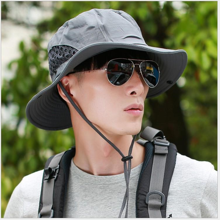 46729eab317dc 2018 Unisex Men Summer Bucket Sun Hat UPF 50+ Packable Women Sunhat Outdoor UV  Cap Neck Flap Wide Brim Straw Cowboy Hats Sun Hats For Men From Yuijin