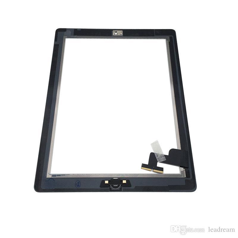 Touch Screen Glasverkleidungs-Analog-Digital wandler für iPad 2 mit Hauptknopf-klebender Versammlung Freies Verschiffen