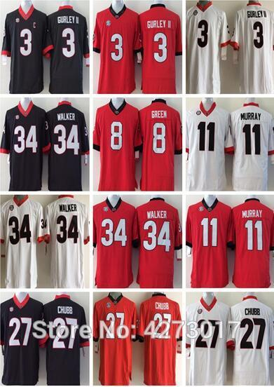 49dd49e6a 2019 Mens 11 Jake Fromm 27 Nick Chubb 7 DAndre Swift 3 Roquan Smith 34  Herchel Walker Black Red White Jerseys From Bluelike