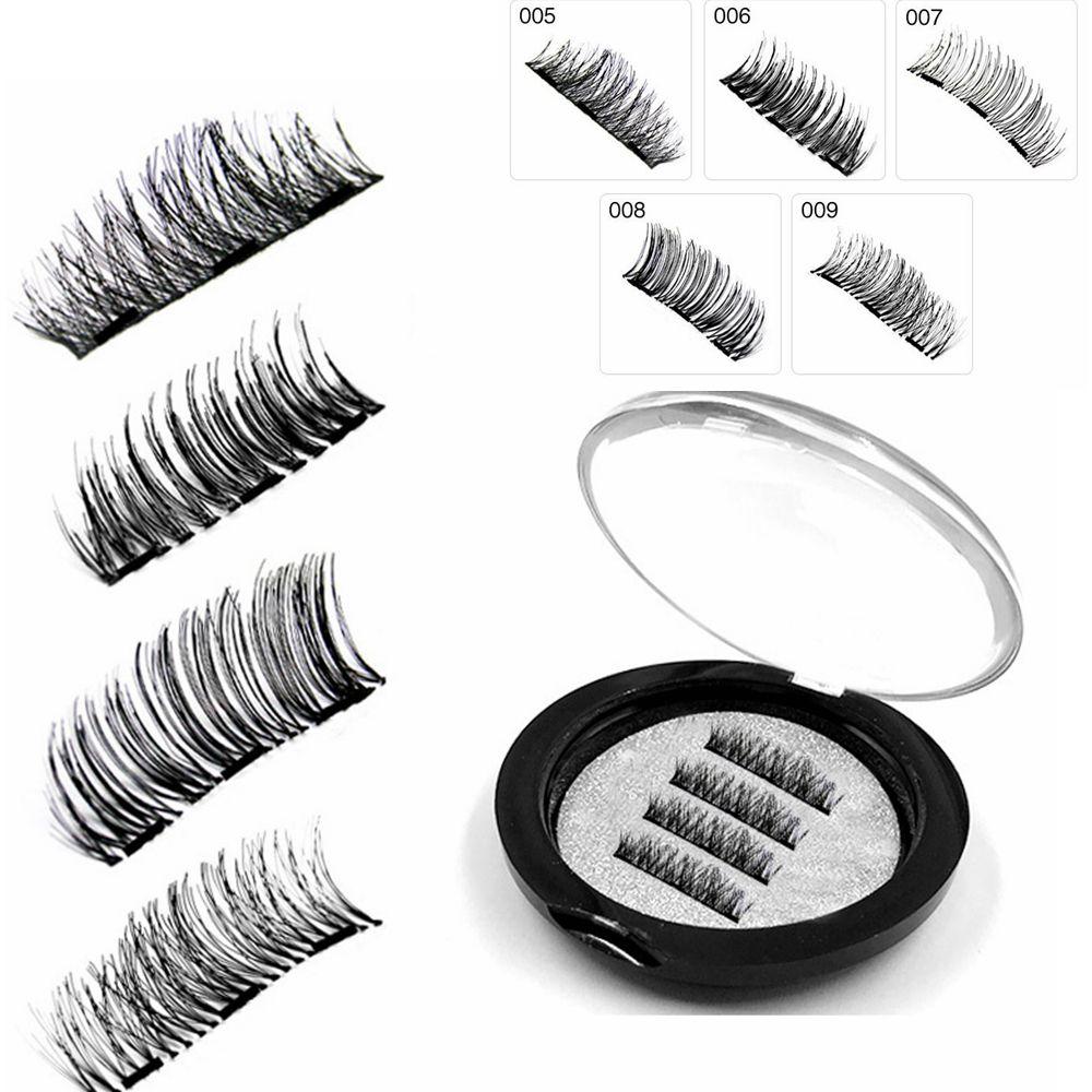 eae94f90f41 3D Magnetic False Eyelashes with 3 Magnets Handmade 3 Magnet Fake ...
