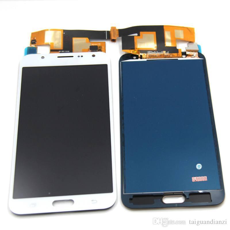 J700 Ekran Samsung Galaxy J7 2015 J700 J700F J700M J7 LCD için dokunmatik ekran Digitizer Meclisi ile, ücretsiz kargo