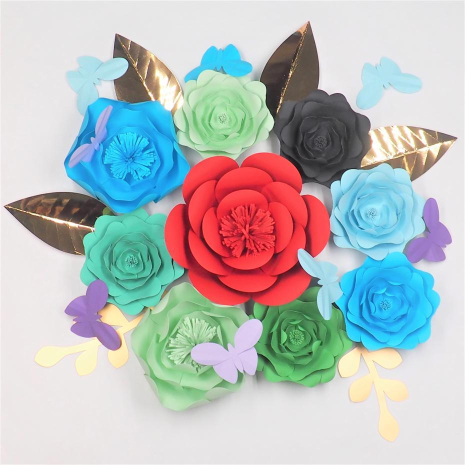 Diy Giant Paper Flowers Backdrops Half Made Large Flower 9 Leaves 6