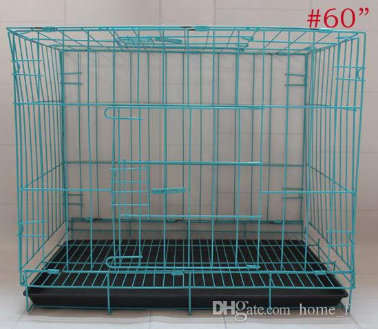 More Size Fashion Sturdy Durable Foldable Pet Wire Cat Puppy Cage Suitcase Kennel Playpen With Tray