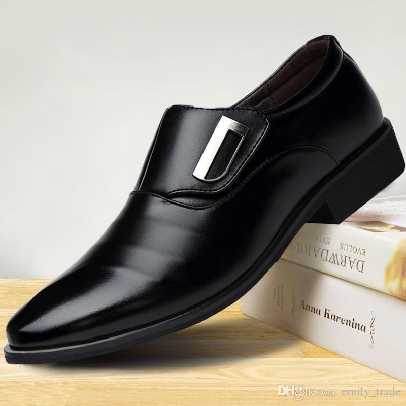 1b3aa0d8e975b3 Compre 2018 Tamaño Grande Hombres Zapatos Oxford Para Hombre Formal Mariage  Zapatos De Boda Zapatos Hombre Zapatos De Vestir De Negocios Sapato  Masculino A ...