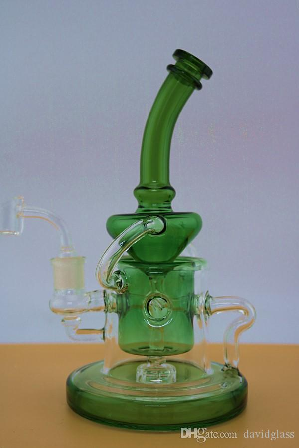 New Good Filtration Real Images Glass Bongs Water Pipes percolator dab Recycler Oil Rigs Glass Bongs