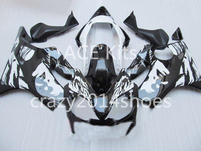 Body repair parts for HONDA CBR600F4I 2004 2005 2006 2007 Injection fairings cbr600 f4i CBR600 f4i 04-07 White Black gray fairing kit a4