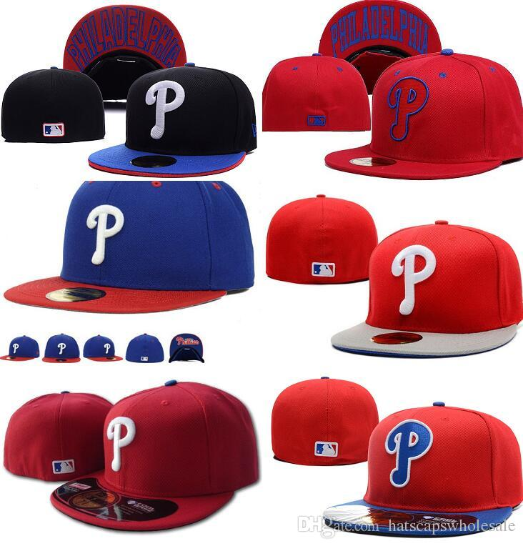 Wholelsae Men S Phillies Fitted Hat Embroidered Team P Letter Flat Brim Hats  For Sale Baseball Size Caps Brands Sports Chapeu For Sale Visors Millinery  From ... 934c2f8ba3ad