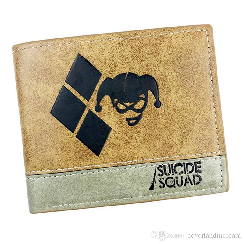 3 Types Suicide Squad Anime Leather Purse More Card Holder Money Bag of Student Cool Gift Wallet