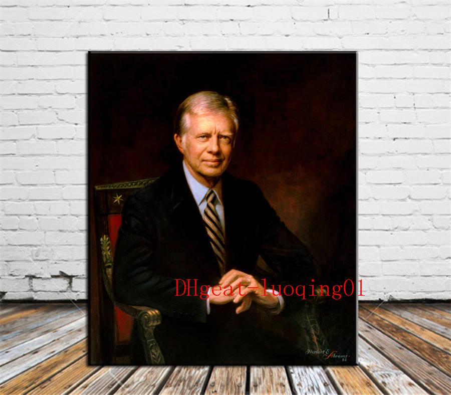 Jimmy Carter , Canvas Pieces Home Decor HD Printed Modern Art Painting on Canvas (Unframed/Framed)