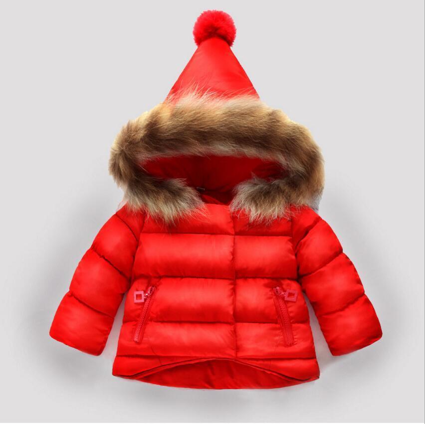 Compre Rojo Para 1 2 3 4 Años Viejos Moda Niño Niñas Abrigo De Invierno  2018 Nuevo Niños Bebé Niños Niñas Sólido Blanco Sudadera Con Capucha Ropa  67 A ... ca3036d5a0ee