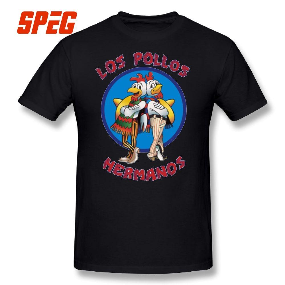 b746a4d897776 Compre Breaking Bad Los Pollos Hermanos Camiseta 100% Algodón Mangas Cortas  Camisetas De Gran Tamaño Nueva Llegada Camiseta O Cuello Ropa Para Hombres  A ...