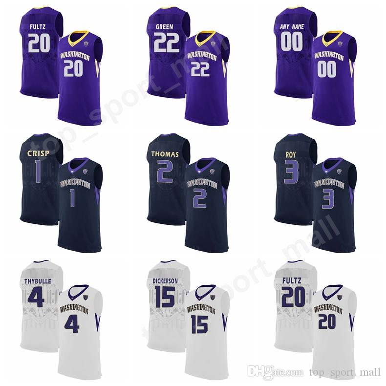 promo code cd9da b1d0b Washington Huskies Jerseys College Markelle 20 Fultz 2 Isaiah Thomas 1  David Crisp 22 Dominic Green 5 Jaylen Nowell Sale White Purple Black