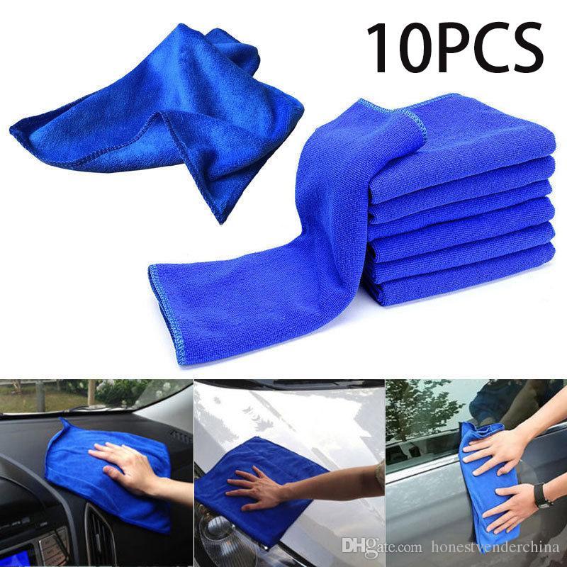 Blue Microfibre Cleaning Auto Car Detailing Soft Cloths Wash Towel Duster Hot