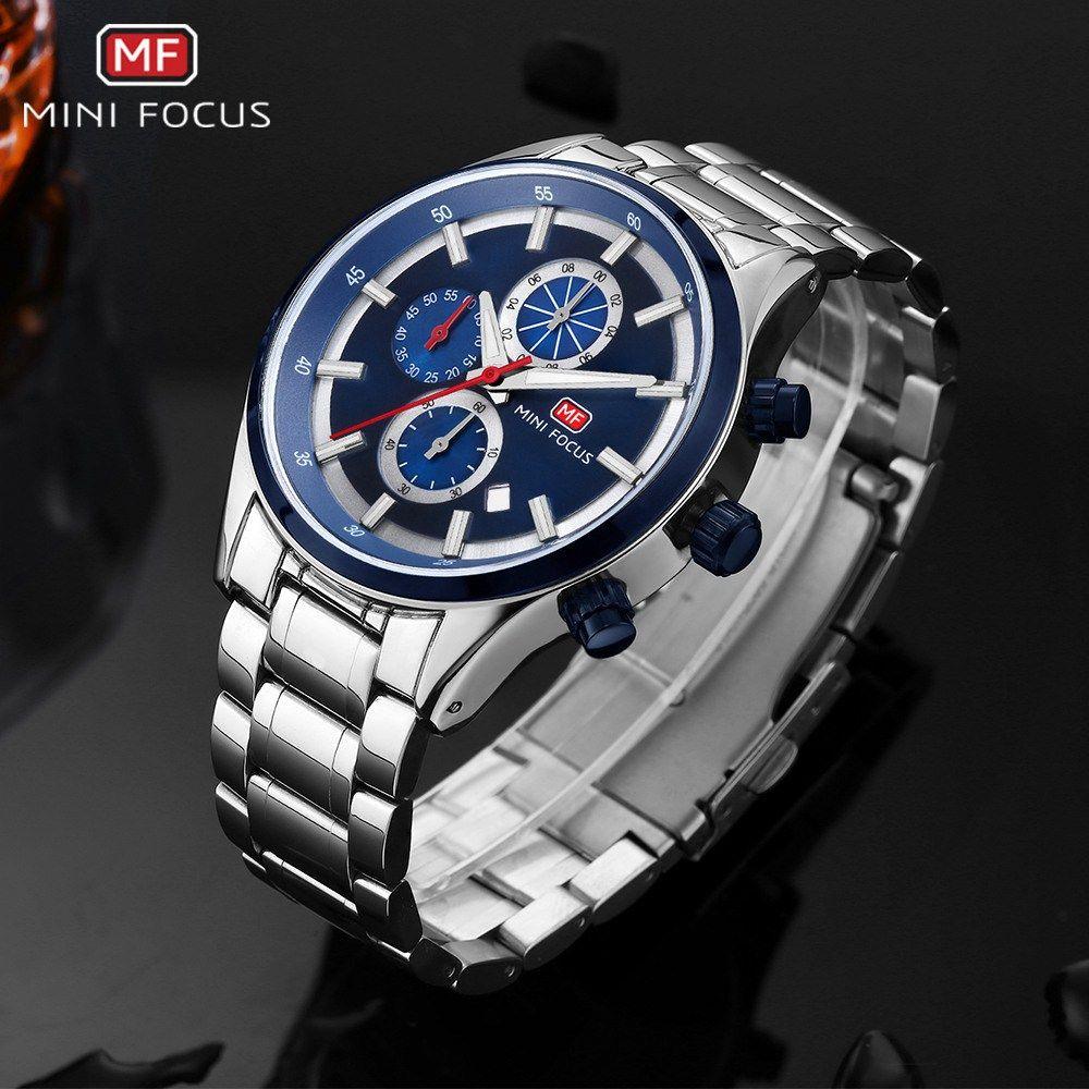 461785fd216 Compre MINIFOCUS Relógio De Negócios Homens De Luxo De Aço Luminoso Homens  Relógios Esporte De Aço Inoxidável De Quartzo Relógios De Pulso Relogio  Masculino ...