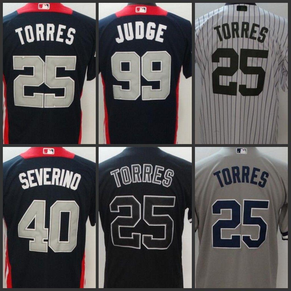 finest selection e040a 9e363 New York Mens Yankees jersey 25 Gleyber Torres 40 Luis Severino 99 Aaron  Judge Women Youth Baseball Jerseys